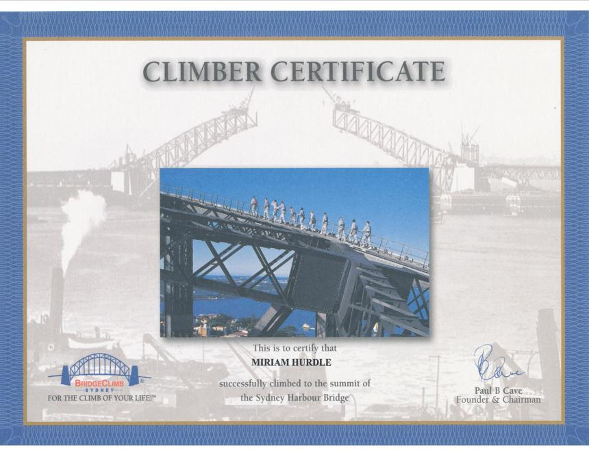 Habor bridge cert
