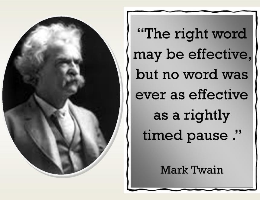 Pause. Mark Twain