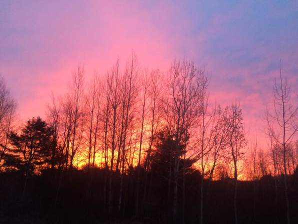 Sunrise in Reed City Michigan by Ramona Seath-Lubke