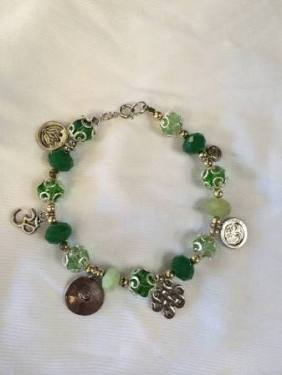infused jade bracelet $18.00