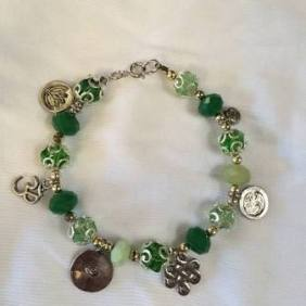 infused jade bracelet $18.00