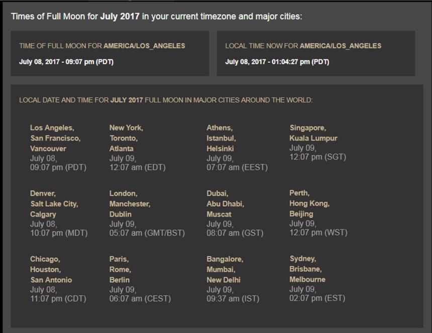 July 2017 moon