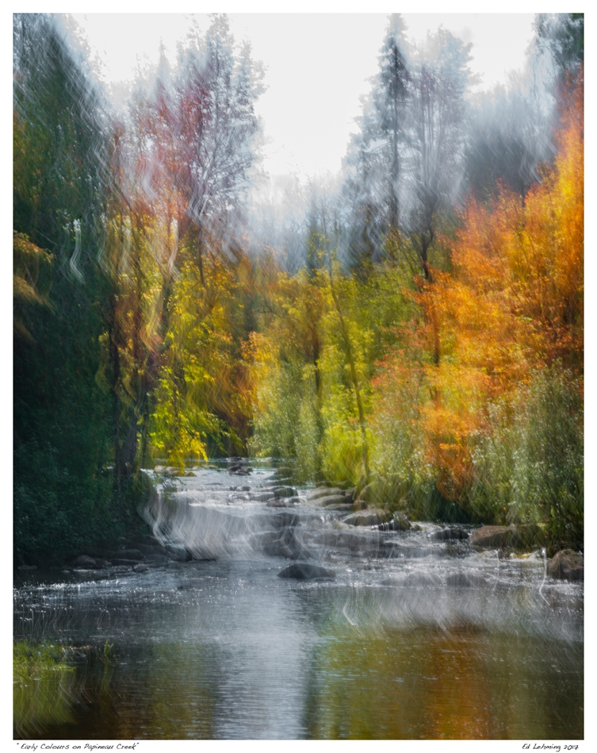 """Early Colours on Papineau Creek"""