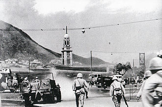 Japanese troops in Tsim Sha Tsui