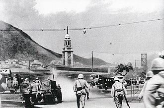 Japanese troops in Tsim Sha Tsui