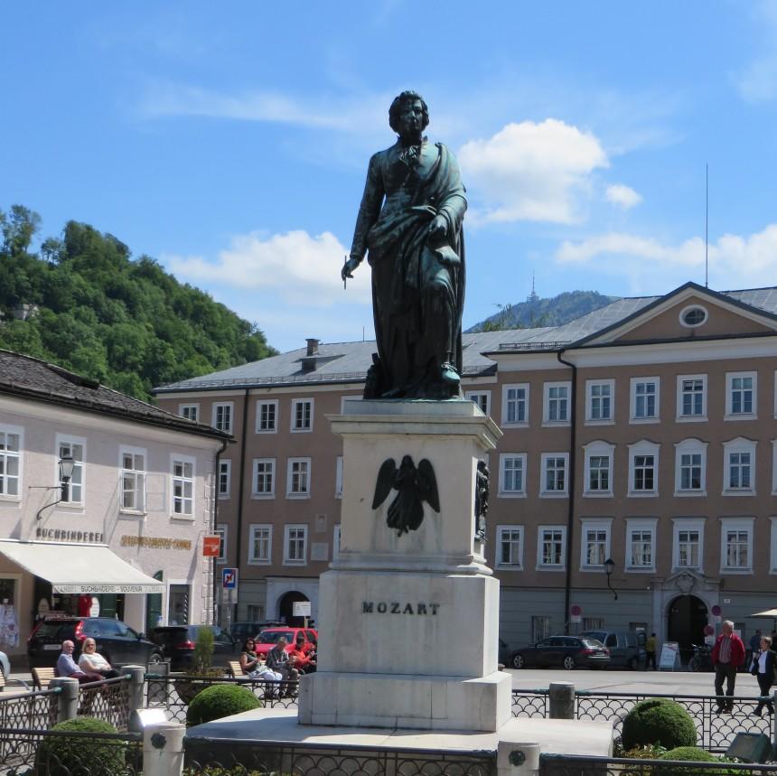 7 IMG_1345 Mozart's Statute, Salzburg