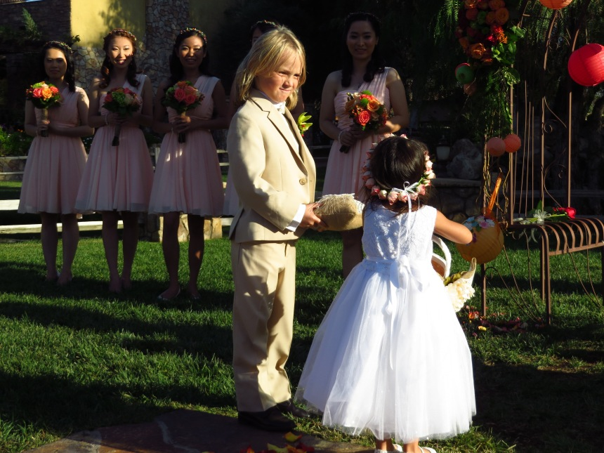 5.You need help.Nope I'm the flower girl