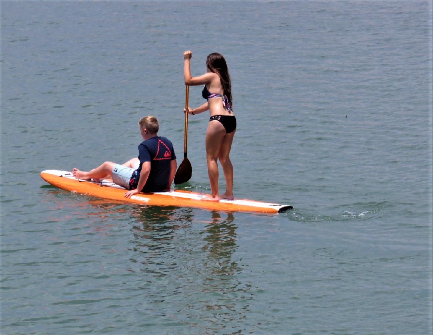 8.Newport beach paddle boarding